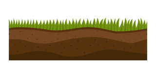 Cross section ground slice  some piece nature outdoor ecology underground and freestanding render garden natural Royalty Free Stock Images