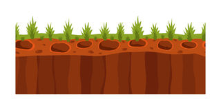 Cross section ground slice  some piece nature outdoor ecology underground and freestanding render garden natural Royalty Free Stock Photo