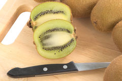 Cross section of Kiwi fruit Royalty Free Stock Photography