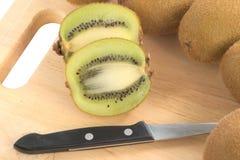Cross section of Kiwi fruit Royalty Free Stock Photography