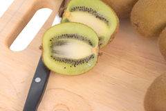 Cross section of Kiwi Stock Photo