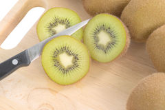 Cross section of Kiwi Stock Photography