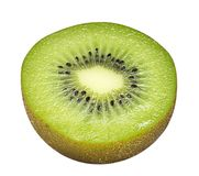 Cross section kiwi fruit isolated on white background royalty free stock photos