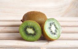 Cross section kiwi fruit Stock Images