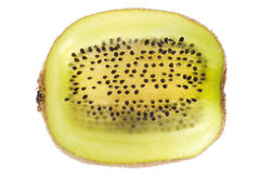Cross section of kiwi with seeds Royalty Free Stock Photo