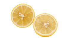Cross section of lemon Royalty Free Stock Images
