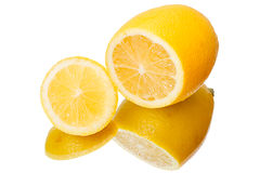 Cross section of lemon Royalty Free Stock Photography