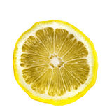 Cross-section of a lemon isolated on white background Stock Photos