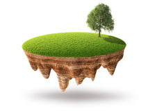 Cross section of little island Stock Images