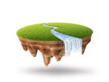 Cross section of little island Stock Image