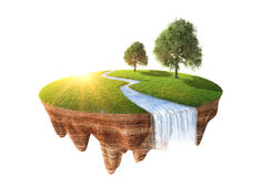 Cross section of little island Stock Photography