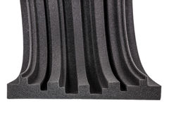 Cross section of microfiber foam wall Stock Images
