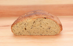 Cross section of multi seed malted bread Royalty Free Stock Photos
