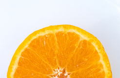 Cross section of an Orange Stock Photography