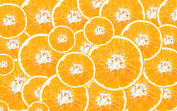 Cross section of oranges. For background Royalty Free Stock Image