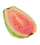 Cross section of a pink guava