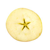 Cross section of red apple on white background Stock Images