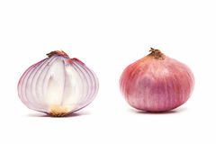 Cross Section of Red Onion. Stock Photos