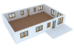 Cross-section of residential house Stock Images