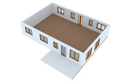 Cross-section of residential house Stock Photo