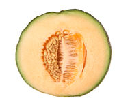 Cross section of a rockmelon Stock Photos