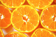 Cross section of tangerine Stock Photography
