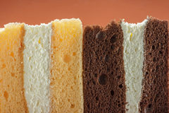 Cross section texture of pieces cake. Sweet dessert. cross section texture of pieces cake. food backgrounds Royalty Free Stock Photography