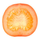 Cross Section of Tomato Isolated on White Background Royalty Free Stock Photo