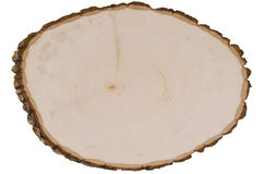 Cross section of tree trunk Royalty Free Stock Images