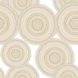 Cross section of tree trunk isolated on white background, seamless pattern.  Vector Stock Images