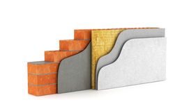 Cross-section of a wall. Stock Image