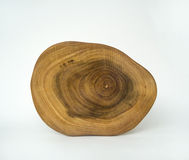 Cross Section Wood Grain Tree Rings Stock Image