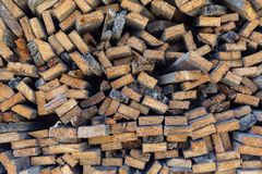 Cross section of wooden boards Stock Images