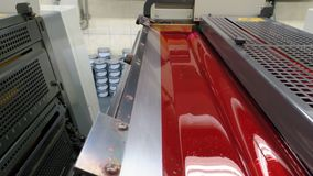 Cross-sectional view on printing machines royalty free stock photos