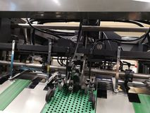 Cross-sectional view on printing machines stock photos