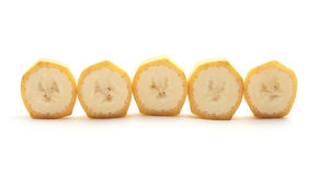 Cross Sections of banana Stock Image