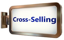 Cross-Selling on billboard background. Cross-Selling wall light box billboard background , isolated on white Stock Photography