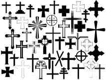 Cross set. Illustration on white background stock illustration