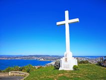 Cross of Sete, in Saint Clair mountain South of France stock images