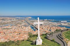 View on Sete, France stock photography