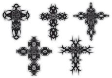 Cross sets. Set of  celtic style crosses Royalty Free Stock Photography