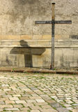 Cross with shade. Cross,crucify royalty free stock image