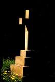 Cross in Shadow. Church yard cross in sun & shadow stock images
