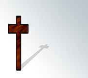 Cross and Shadow Stock Photography
