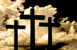 Cross Shape With Dramatic Sky Stock Photography
