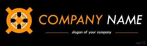 Cross shape vector logo template, ready logotype for a company o Stock Photography