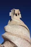 Cross-shaped chimney by Antonio Gaudi. Stock Photo