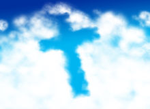 Cross shaped cloud Stock Image