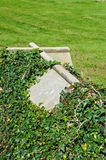 Cross shaped tombstone. Royalty Free Stock Photo