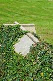 Cross shaped tombstone. Royalty Free Stock Photo